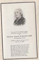 8AK1534  IMAGE PIEUSE RELIGIEUSE MORTUAIRE MME SCHUMACHER NEE LUTZ 1977  2 SCANS - Devotion Images