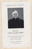 8AK1541  IMAGE PIEUSE RELIGIEUSE MORTUAIRE ABBE JOSEPH NEST 1969 HARSKIRCHEN WOLSHEIM MEISTRATZHEIM 2 SCANS - Devotion Images