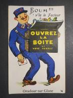"""87 - Oradour Sur Glane - Carte à Système """" Boum ''' V'la Le Facteur  """" N° 74 - GABY - TBE - - Dreh- Und Zugkarten"""