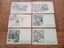 """Illustrateur - Louis Tinayre - 6 Cartes Postales Du """"Journal Des Voyages"""" Madagascar, Chasse Algérie, Indochine, Lapons - Autres Illustrateurs"""