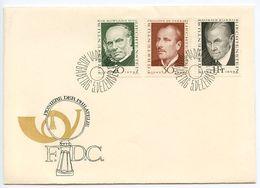 Liechtenstein 1968 Scott 447/450 FDC Pioneers Of Philately - FDC