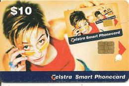 CARTE-PUCE-AUSTRALIE-10$-TELSTRA-Exp 01/2001-UTILISE -TBE - Australie