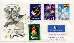 Ghana 1960 Scott 71-74 Registered FDC 3rd Anniversary Of Independence - Ghana (1957-...)