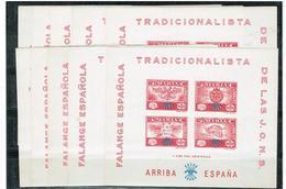 ESPAGNE GUERRE CIVIL 1937 BLOC FALANGE ESPAÑA - Espagne