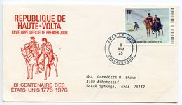 Upper Volta 1975 Scott 365 FDC American Bicentennial - Valley Forge - Upper Volta (1958-1984)