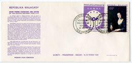 Malagasy 1968 Scott C91 FDC PHILEXAFRIQUE Philatelic Exhibition, Art Painting - Madagascar (1960-...)