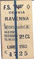 F.S. CERVIA  RAVENNA 2 CL  1958 - Bus