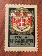 ITALIA SICURA NEI TUOI CONFINI SII INDIPENDENTE COI RUOI PRODOTTI ERINNOFILO CHIUDILETTERA - Storia