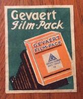 GEVAERT FILM - PACK  ETICHETTA PUBBLICITARIA - Storia