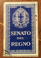 SENATO DEL REGNO. CHIUDILETTERA ORIGINALE D' EPOCA - Storia