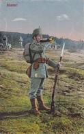 AK Deutscher Soldat Mit Trompete - Alarm! - Feldpost - Weißenfels 1916  (35590) - Weltkrieg 1914-18