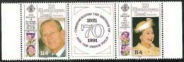 Seychelles - ZIL  Elwannyen Sesel,  Scott 2018 # 178a,  Issued 1991,  Strip Of 2 + Lable,  MNH,  Catalog $ 6.50,  QE II - Seychelles (1976-...)
