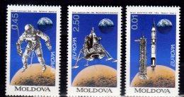 1994 Moldova - Europa CEPT 1st Issue Of Moldova - Space Research - Set Of 3 V - MNH** Mi 106/108 - Moldova