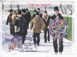 2015 , Moldova  Moldavie , Winter Habits , Christmas , Maxicard , Maximum Card - Moldova