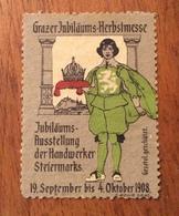 GRAZ. Fiera Internazionale Di Autunno 1908  ETICHETTA PUBBLICITARIA - Storia