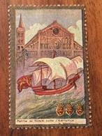 """D'ANNUNZIO """" Patria Dei Veneti Tutto L' Adriatico """" Etichetta Pubblicitaria - Storia"""