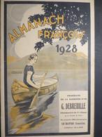 Almanach François - Pharmacie De La Barrière D'Or - Le Havre - 1928 - TBE - - Calendars