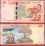 Bolivia 2018 Nueva Emision De Billetes: 20 Bolivianos. - Bolivia