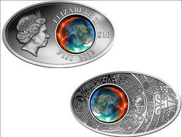FIJI 10 $ 2012 ARGENTO SATINATO APOCALISSE MAYA PESO 20g TITOLO 0,925 PZ. 1000 CONIATI CONSERVAZIONE FDC+GARANZIA  UNC+C - Fidji