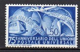 1949 Repubblica Italiana UPU N. 599 Nuovo MLH* Centrato - 1946-60: Nieuw/plakker