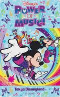 Télécarte NEUVE Japon - DISNEY - DISNEYLAND - MICKEY ** POWER OF MUSIC ** - Japan MINT Free Phonecard - Disney