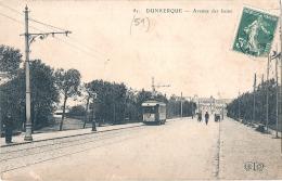 ***  59  ***   DUNKERQUE   Avenue Des Bains TB(petit Décollement Feuillets - Dunkerque