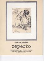 Danse: Rare Album Photos REPETTO, 22 Rue De La Paix, Paris, Début Des Années 1970 - Théatre & Déguisements