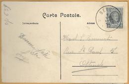 Op-639: N° 193:   ☼ BEEZ  ☼ Sterstempel:: 2 VIII 1923 > Ostende / Pk:3 Beez Les Rochers - 1922-1927 Houyoux