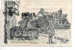 02 COURCY STRASSENSPERRE DESSIN 1915  HOFFMANN - Autres Communes