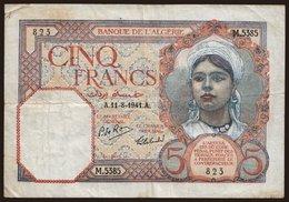 5 Francs, 1941 - Algeria
