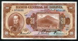 """BOLIVIA BILLETES; 1928 - """"20 BOLIVIANOS"""". - Bolivia"""