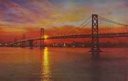 California San Francisco Bay Bridge At Sunset - San Francisco