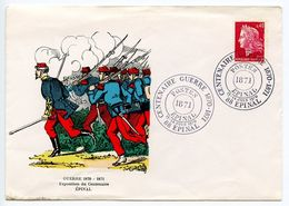 France 1971 Epinal - War Centennial 1870-1871 Commemorative Cover - Postmark Collection (Covers)