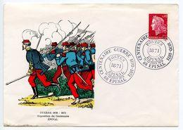 France 1971 Epinal - War Centennial 1870-1871 Commemorative Cover - Commemorative Postmarks