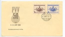 Czechoslovakia 1949 Scott 391-392 FDC 50th Prague Sample Fair - FDC