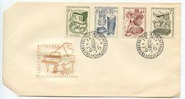 Czechoslovakia 1956 Scott 736-739 FDC Industry Products - FDC