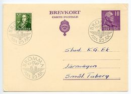 Sweden 1949 Postal Card - Bromma, SAS Airlines, ABA 25th Anniversary - Postal Stationery