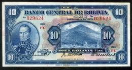 BOLIVIA BILLETES; 1928 - 10 BOLIVIANOS. - Bolivia