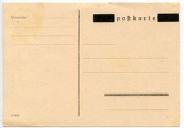 Germany 1940's Mint Post WWII Overprinted Feldpostkarte Postal Card - Entiers Postaux