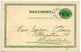 Sweden 1907 5o. Postal Card Häfverösund To Halmstad - Postal Stationery