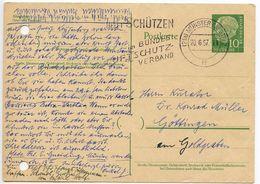 Germany 1957 10pf Heuss Postal Card Münster To Göttingen - [7] Federal Republic