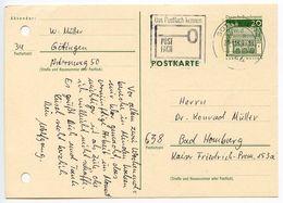 Germany 1969 20pf Postal Card Göttingen To Bad Homberg - [7] Federal Republic