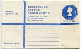 Isle Of Man 1970's Mint 52p. Registered Postal Envelope - Isle Of Man