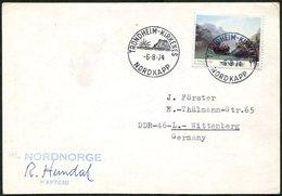 SHIP MAIL Norway 1974 TPO TRONDHEIM-KIRKENES / NORDKAPP M/s Nordnorge Card Polar Arctic Schiffspost Poste Maritime > DDR - Sonstige