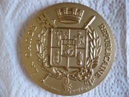 Médaille En Bronze Dorée La Garde Républicaine - Gendarmerie - France