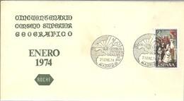 POSTMARKET ESPAÑA   1974 - Geografia