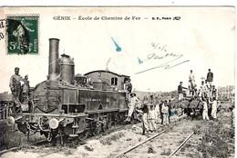 Très Beau Plan De Locomotive Et Train De L'Ecole De Chemin De Fer Du Génie Militaire - Equipment
