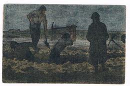 Cpa  Militaire- Illustrateur  GABARD - LE  TRAVAIL  DE  NUIT   - Dos Dessin Drapeau - Légion D'honneur - 5814  CH - Illustrators & Photographers