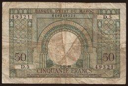 50 Francs, 1949 - Maroc