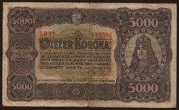 5000 Korona, 1923 - Hungary